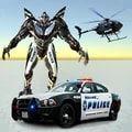 警车改造机器人游戏
